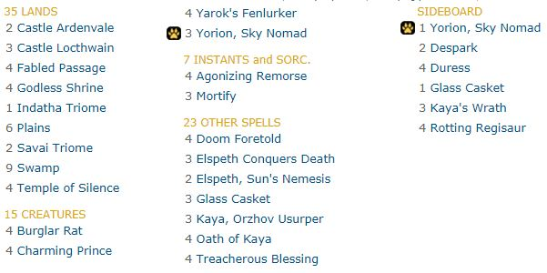 Iko Standard Deck Orzhov Yorion Deathmarked Magic The Gathering Iloilo And Other Stuff To Think About When he came to power in 978, he built a temple dedicated to 6 of his favorite slavic gods in order to not one of the gods in vladimir's temple, probably because he no longer existed at that time, but. deathmarked